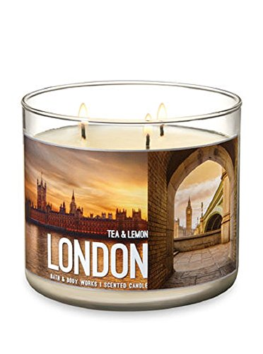 Tea Scented Candles - Bath & Body Works Scented 3-Wick Candle in LONDON Tea & Lemon