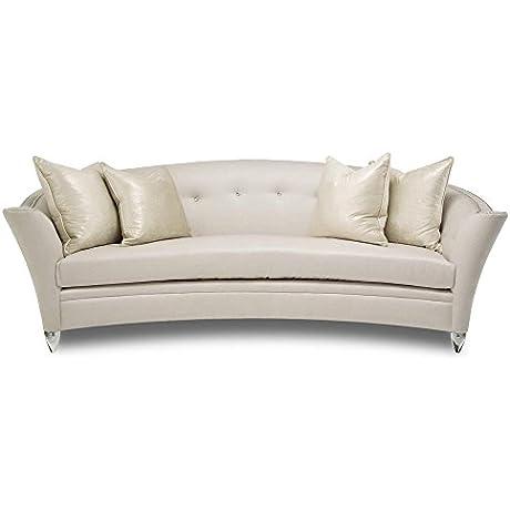 Aico Amini Bel Air Park Button Tufted Sofa In Platinum
