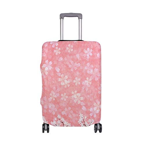 (FANTAZIO Beautiful Cherry Blossom Suitcase Protective Cover Luggage Cover)