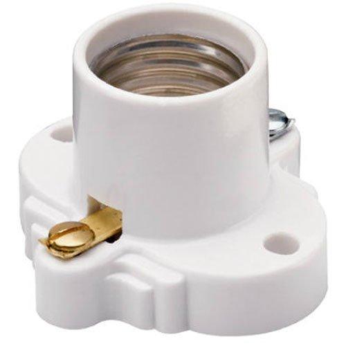 Pass & Seymour White Medium Base Cleat Lamp Socket