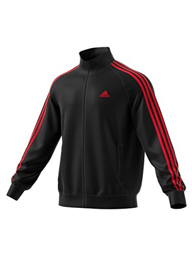 Adidas Mens Essential 3 Stripe Tricot Track Jacket