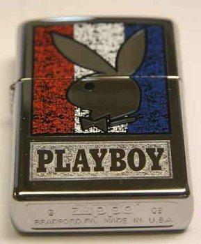 (Zippo Custom Lighter - Playboy Bunny Double Lustre RARE)