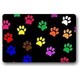 """Fantastic Doormat Cool Colorful Animal Paw Print Dog Paw Door Mat Rug Indoor/Outdoor/Front Door/Bathroom Mats£¬Bedroom Doormat 23.6""""(L) x 15.7""""(W)"""