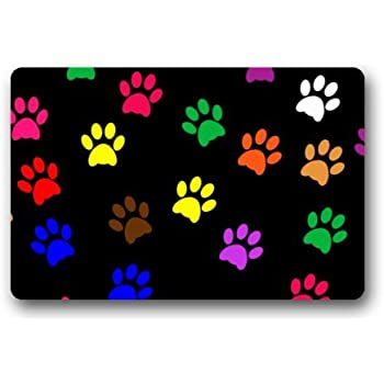 Amazon Com Fantastic Doormat Cool Colorful Animal Paw
