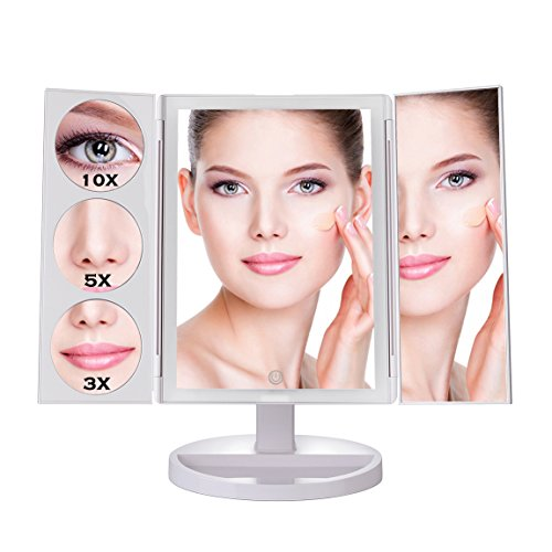 Makartt Large Lighted Makeup Mirror 19 2 Inch Trifold