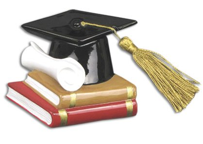 Grantwood Technology Personalized Christmas Ornaments Graduation HAT Scroll Books