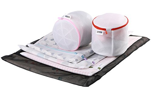 Mesh Laundry Bag Tour Pal Set of 6 Travel Laundry Bag for Blouse, Hosiery, Stocking, Underwear, Bra and Lingerie (6 Set)