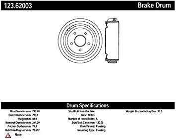 Centric Parts 123.66005 Brake Drum