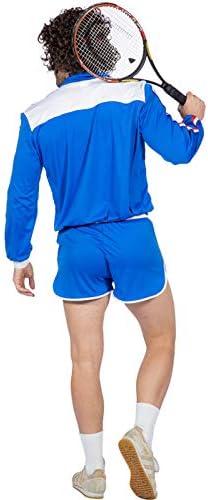 Magic Box Disfraz de Jugador de Tenis Retro Azul para Hombre de la ...