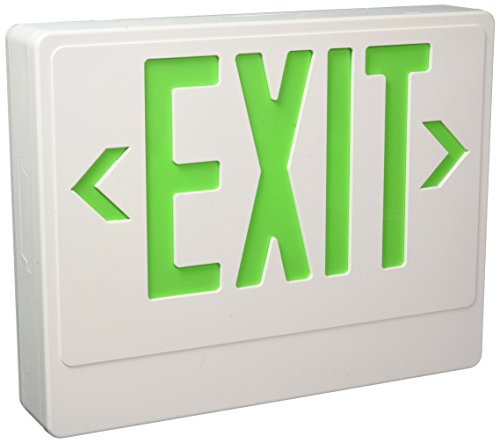 Royal Pacific RXL20GW Exit Sign with Remote Capability, White with Green Letters