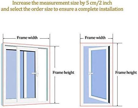 INOBXR Fiberglass Window Mesh Simple Sand Window Net Mosquito Screen Net 24x35inch Self-Adhesive Window Screen Netting Mesh Curtain,White,60x90cm