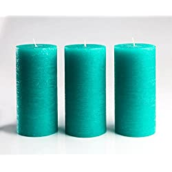 Melt Candle Company Turquoise/Teal Unscented Pilla