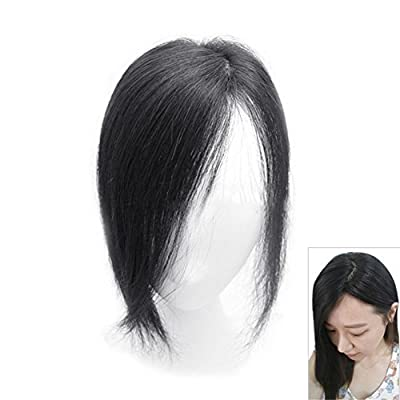 "Remeehi 10"" Real Human Hair Top Pieces Clip in Toppers for Thinning Hair"
