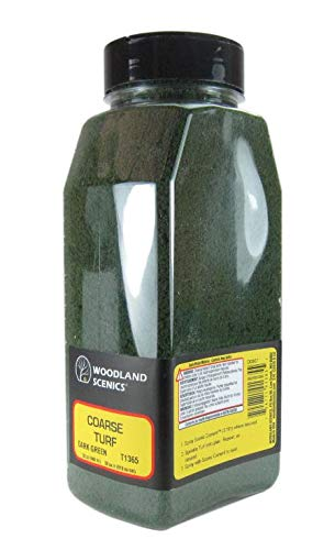 (Woodland Scenics Coarse Turf Shaker, Dark Green/50 cu.)