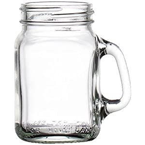 Libbey Mini Drinking Jar with Handle, 4.5 Ounces, Set of 16