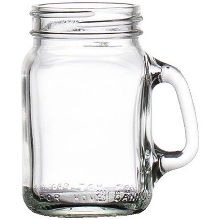 Libbey Mini Drinking Jar with Handle, 4.5 Ounces, Set of - Glasses Handles Names With Of