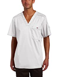 Dickies Mens Big-Tall Big and Tall GenFlex (Contrast) Youtility V-Neck Scrub Top