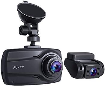 Aukey DR03 1080p Dual Dashcam with G-Sensor Dual-Port Car Charger