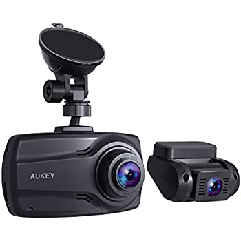 aukey 1080p dual dash cams with 2 7 screen. Black Bedroom Furniture Sets. Home Design Ideas