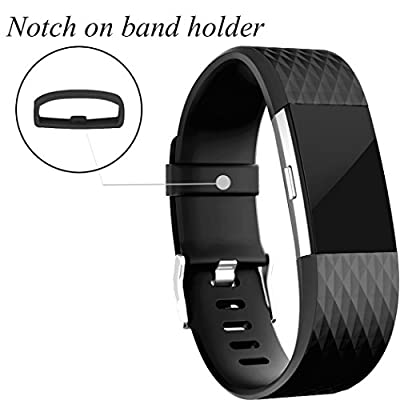 GEAK Fitbit Charge 2 Bands, Replacement Accessories for Fitbit Charge2 HR, Large Size Band, 8-Pack
