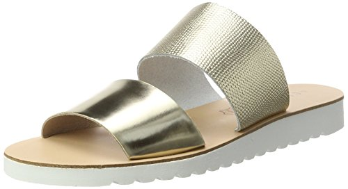 Xti Femme Gold Gold gold Metallic Sandals Or Ouvert Bout Ladies wpSOqwH