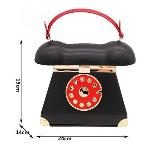 Party 7 a da a 51 Xw borsa di 48 forma l 44 telefono Nero animato X pollici Cartone Shopping donna H pollici viaggio 5 per Borsa 9 tracolla da Zqdw711
