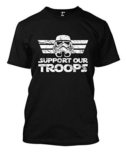 Support Our Troops - Star Trooper Men's T-Shirt (Black, Medium)