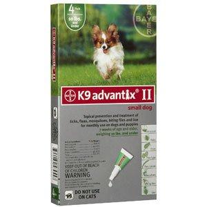 Advantix II 4-Month Dogs 1-10Lbs (Green) @, My Pet Supplies