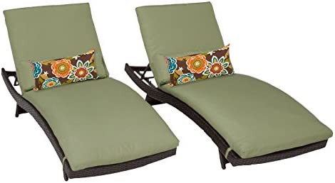 TK Classics Bali Chaise Outdoor Wicker Patio Furniture