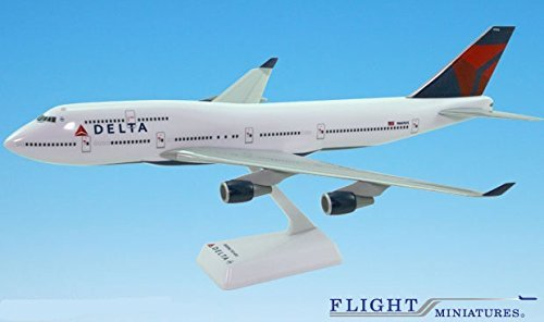 Delta (07-Cur) Boeing 747-400 Airplane Miniature Model Snap Fit 1:200 Part#ABO-74740H-019 (Model Airplane Parts compare prices)