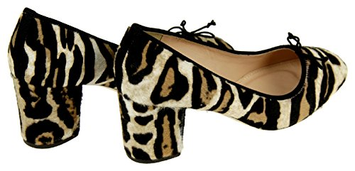 J Crew Sophia Pumps In Calf Hair 6 Tan Black Leopard Womens Tacchi Scarpe F7999