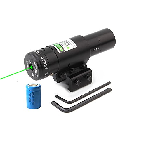 Higoo Powerful Mini Green Laser Dot Sight Scope with 11/20mm Picatinny Rail Mount and Pressure Switch Laser for Pistol Handgun Airgun Rifle by Higoo
