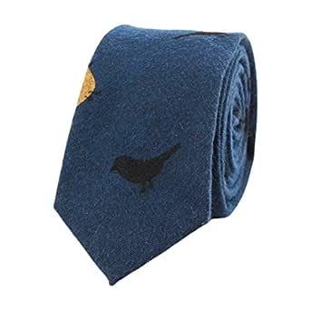 ADELINA Corbata hombres corbata de algodón moda estampado versión ...