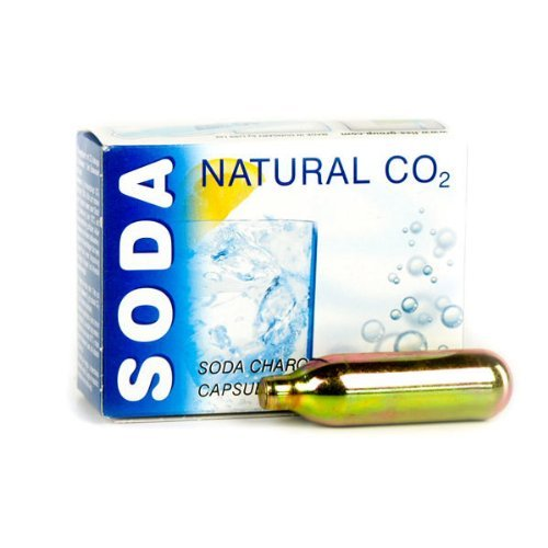Liss Soda Syphon Cartridges - Pack of 10 | Soda Siphon Cartridges, Soda Chargers for Liss & Other Soda Syphons Liss Siphon
