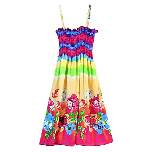 MULLSAN Little Big Girls' Long Dress or Bolero Casual Beach Dress Size 3-12 (4-6 Years, GD5) for $<!--$12.99-->