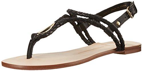 DV by Dolce Vita Women's Dixin Gladiator Sandal, Black, 9.5 M US