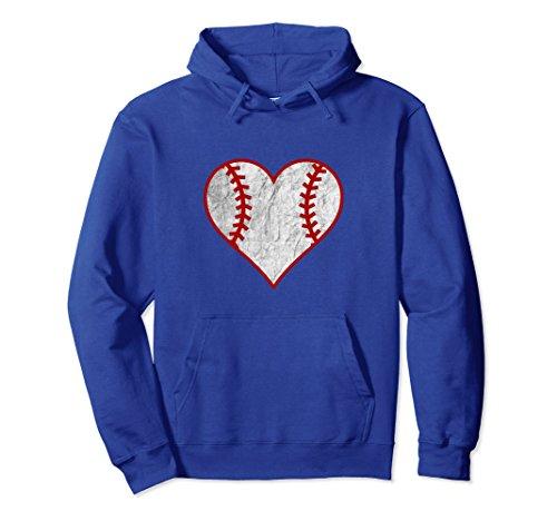 Heart Shaped Hoodie Sweatshirt XL: Royal Blue (Heart Pullover Hoody Sweatshirt)