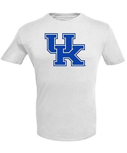 Alta Gracia NCAA Kentucky Wildcats Men's Short Sleeve R-Spun G-Dye Tee, White, X-Large