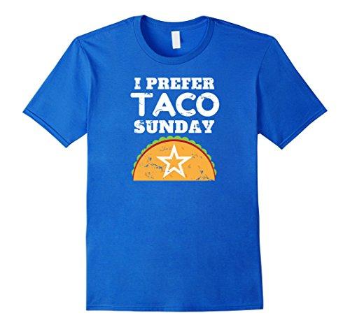 Mens I Prefer Taco Sunday Vintage Star T-Shirt XL Royal Blue