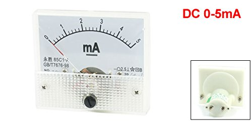 uxcell/® 85C1-A Class 2.5 Accuracy DC 0-5mA Analog Ampere Ammeter Panel Meter