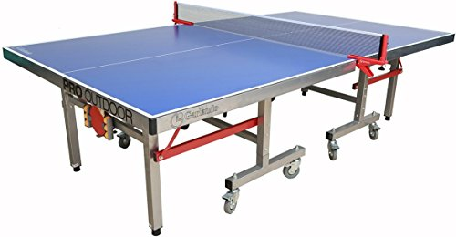 - Garlando Pro Indoor/Outdoor Table Tennis Table, Blue Top