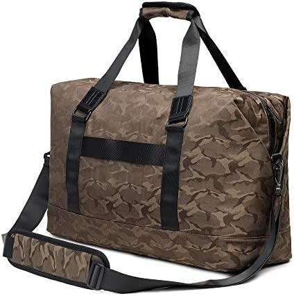 lamaki Camo Street Style Duffel Bag Overnight Weekender Fashionable Gym Travel Fitness Yoga Lifestyle Carry On Trolley Handle Hands Free Shoulder strap for Women and Men 28L