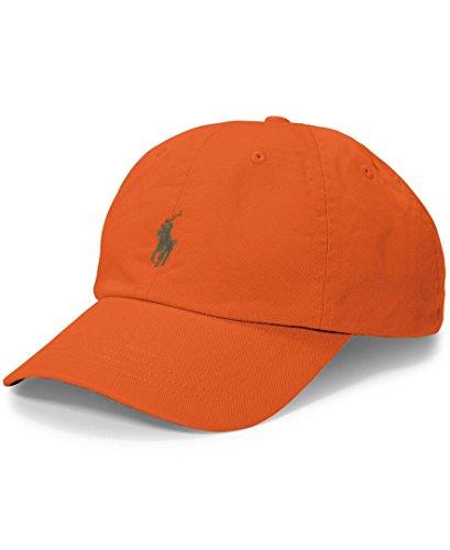 Polo Ralph Lauren Mens Twill Classic Ball Cap Orange - Polo Orange Lauren Ralph