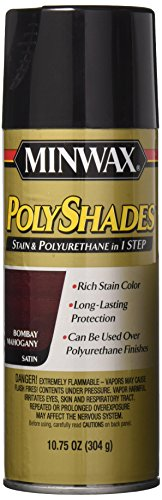 yshades - Stain & Polyurethane in 1 Step, 10.75 ounce Spray, Bombay Mahogany, Satin (Spray Wood Stain)
