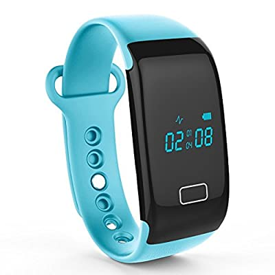 Activity Tracker with Heart Rate Monitor,IPRO Exercise Pedometer Anti-lost Bluetooth Smart Watch Health Sleep Monitor Calorie Counter Fitness Tracker for IOS iphone&Android Phone-JW018