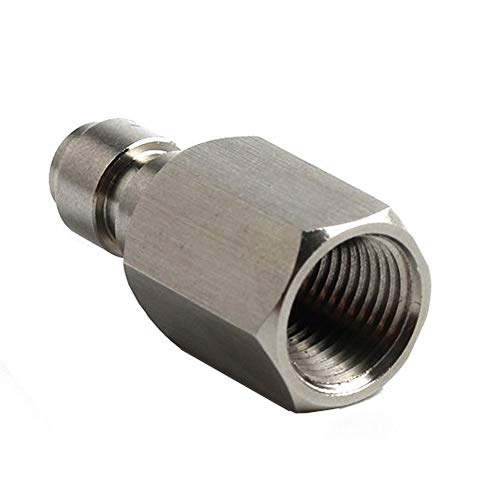 HPDAVV Paintball PCP Stainless Steel Universal 8mm Quick-Disconnect Plug Adapter 1/8