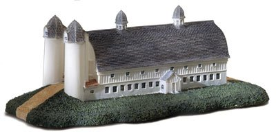 Ogee Arched Roof Barn Cold Cast Porcelain Figurine by Ertl Collectibles