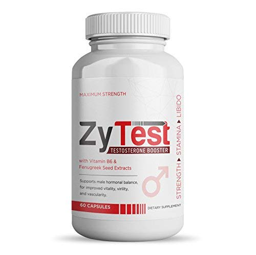 Best Testosterone Booster Libido Enhancer for Men | Zytest Test Booster w/Herbs to Help Increase Endurance, Stamina, Energy Levels & Sexual Health in Men | Safe, Effective, ()