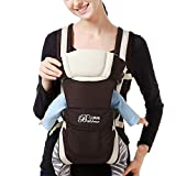 Fartido Newborn Baby Boys Girls Carrier Sling Wrap Versatile Backpack Front Back (Khaki)