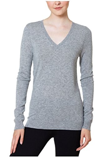 Magaschoni Womens Sweater (Magaschoni Womens V-Neck Cashmere Sweater (Stone, Large))